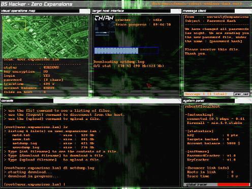 Рабочий стол хакера с хакерским софтом
