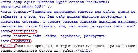 Мета теги в каждой страничке сайта html