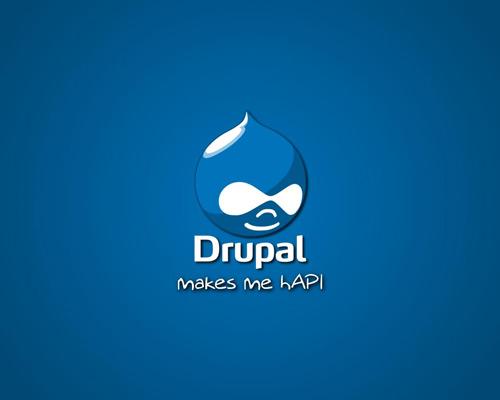 Логотип Drupal - этакая капитошка с лицом