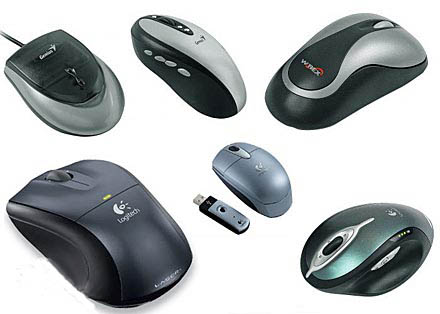 Различные варианты исполнения компьютерных мышей