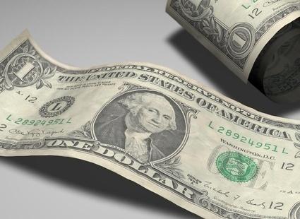 Денежная купюра в один американский доллар