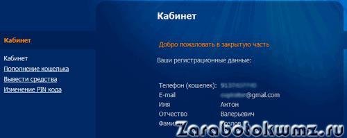 Вы зарегистрированы на сервисе Rapida Online