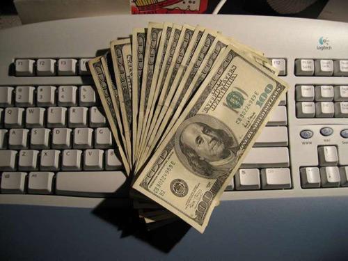Деньги от работы в интернете могут быть большими, но у меня пока не столько