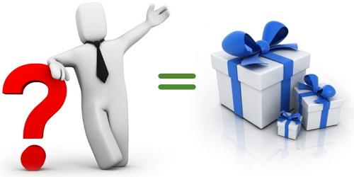 Подарок за вопрос о блогах и их монетизации