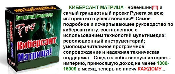 Один из самых знаменитых бизнес-пакетов Анатолия Белоусова